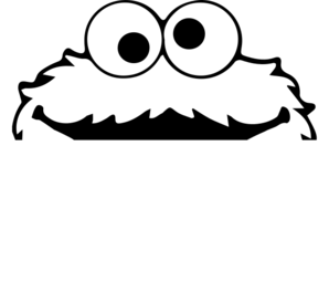 Vector monster head. Cookie clip art at
