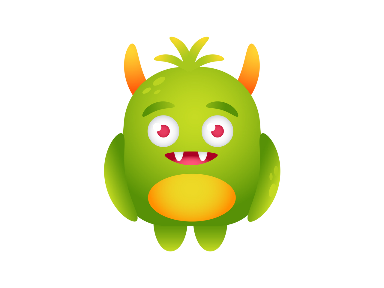 Vector monster illustrator. How to create a