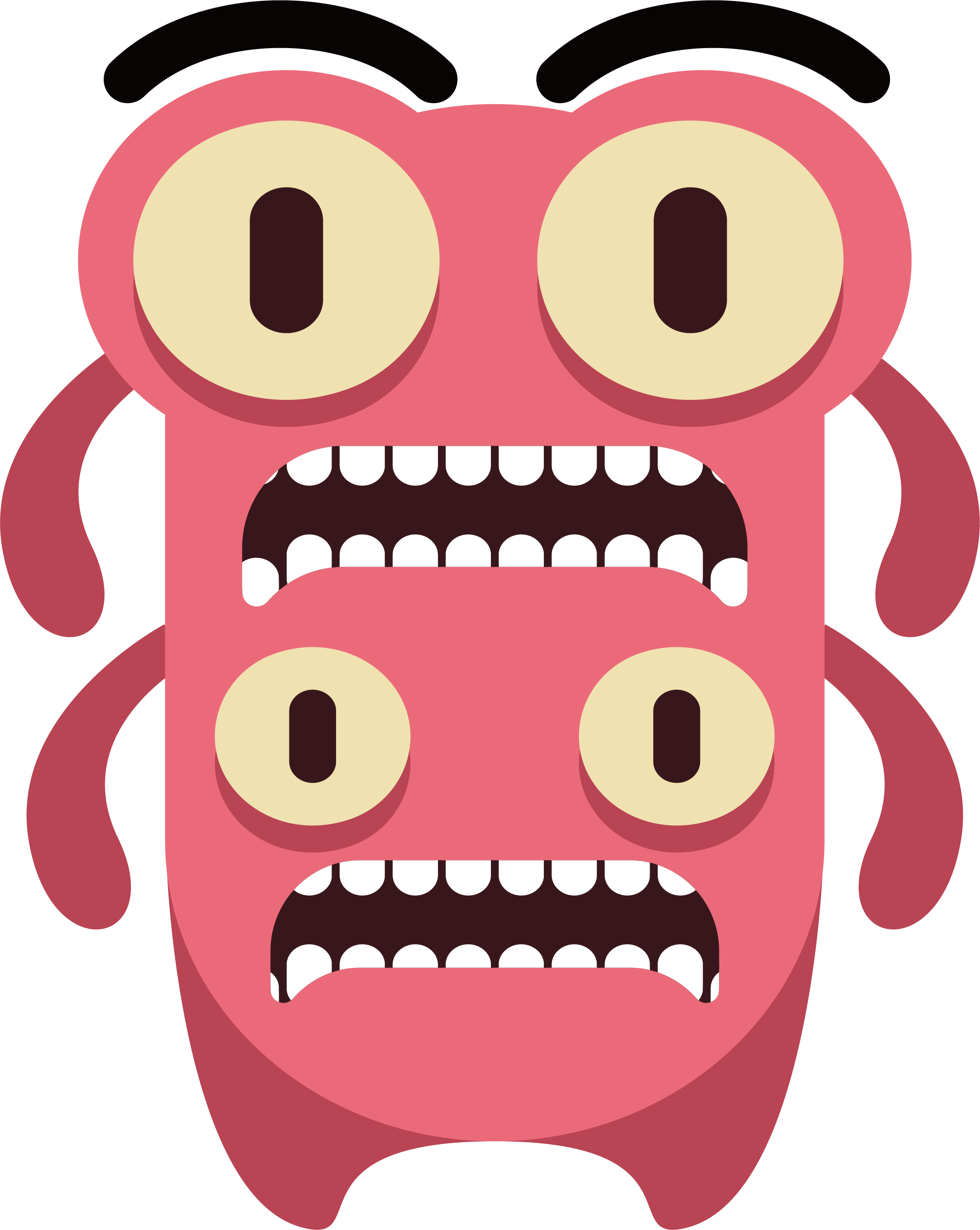 Vector monster illustrator. Adobe download clip art
