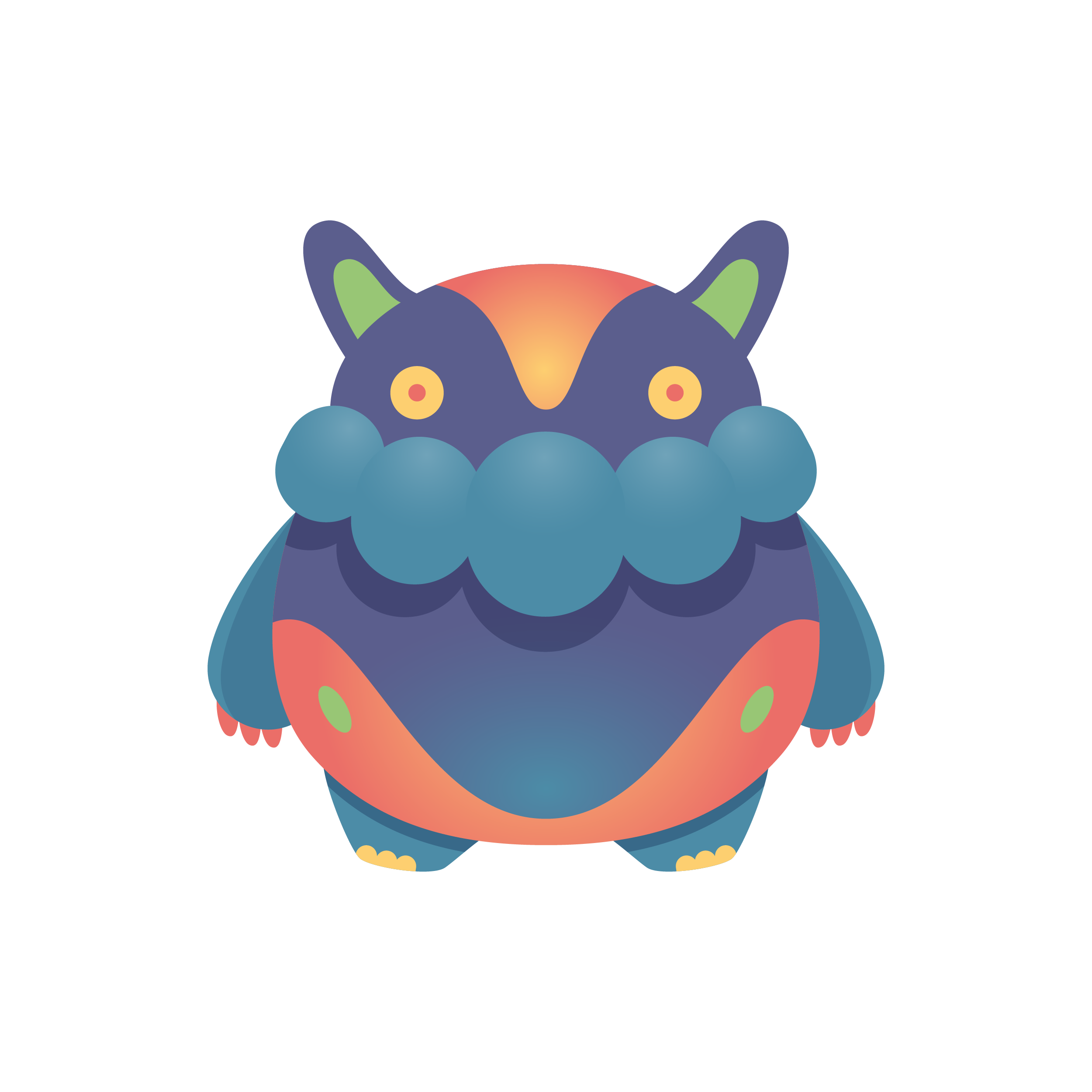 Vector monster illustrator. Cute i on behance