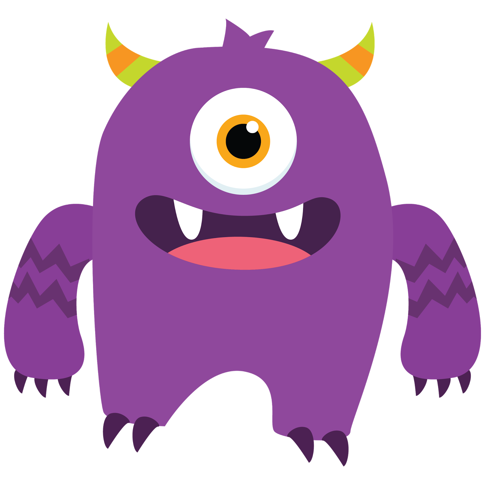 Vector monster little. Birthday clipart pencil and