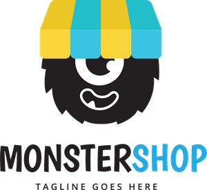 Vector monster logo. Cute eps free download