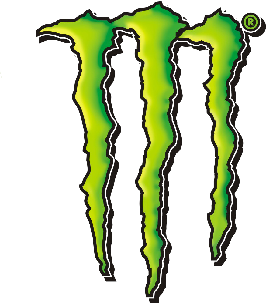 Vector monster logo. Energy free image