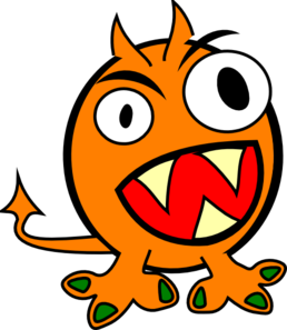 Vector monster orange. Clip art at clker