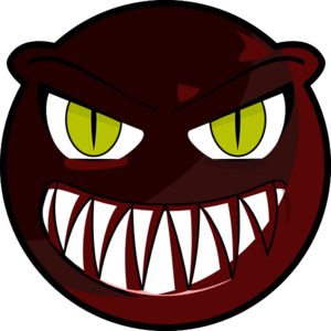 Vector monster red. Face clip art at