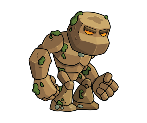 Vector monster royalty free. The living earth rock