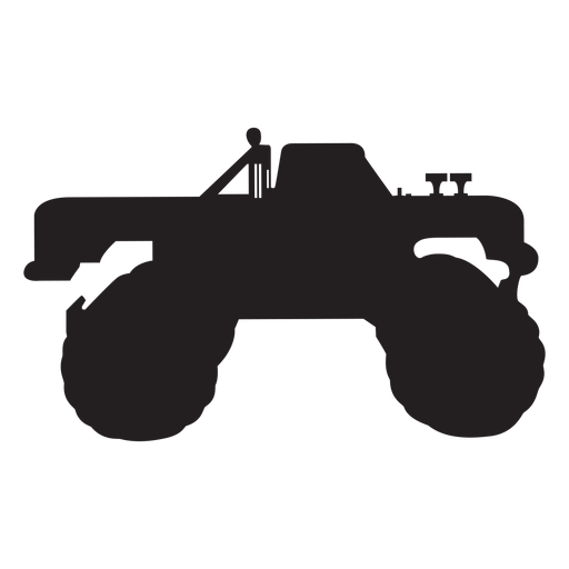Vector monster silhouette. Truck transparent png svg