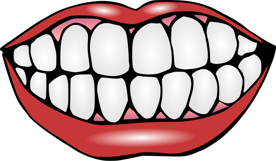 Vector monster tooth. Teeth banner library