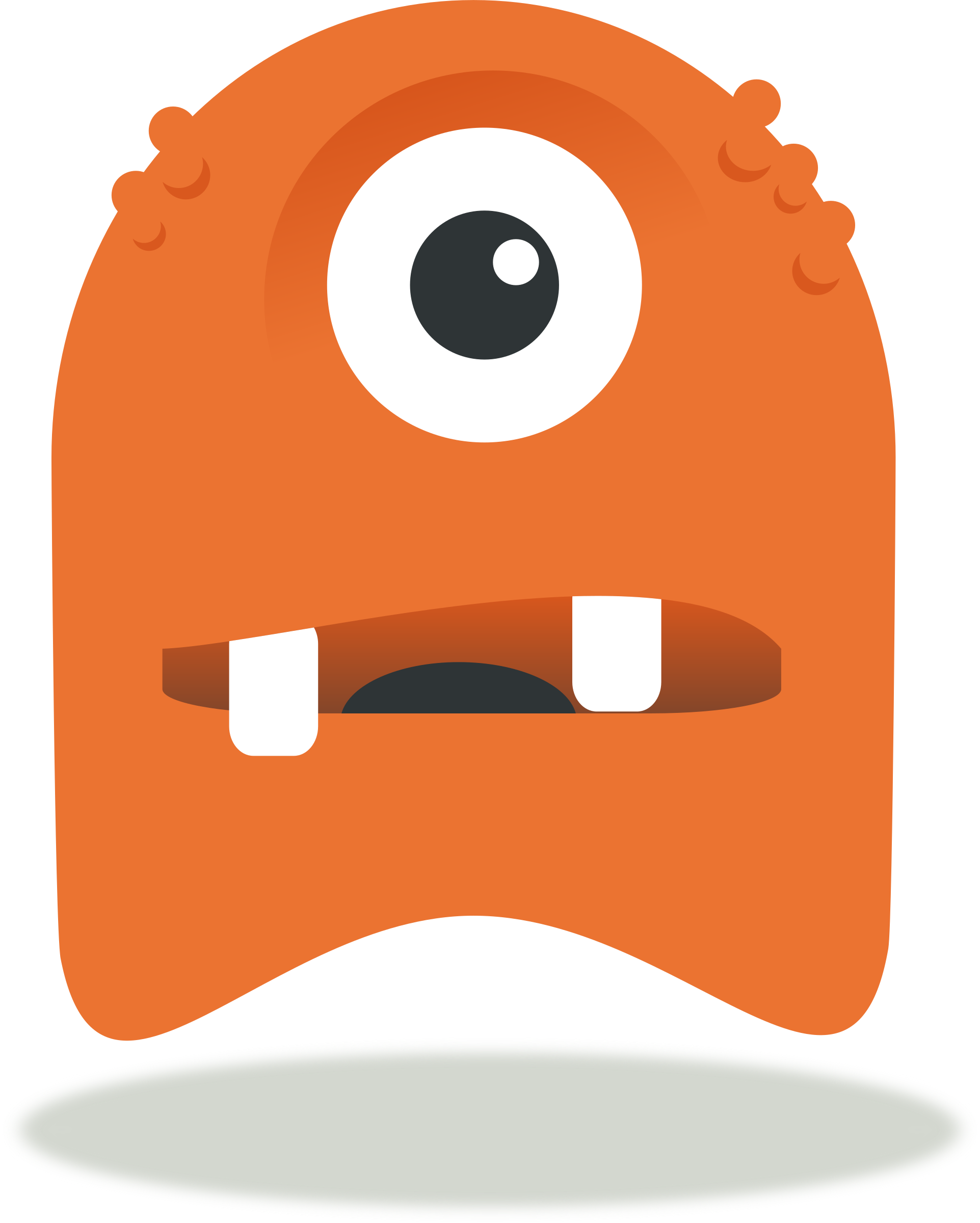 Vector monsters coloured. Clipart monster pac big