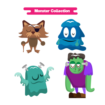 Vector monster water. Funny character png vectors
