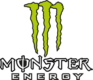Vector monster. Energy logo eps free