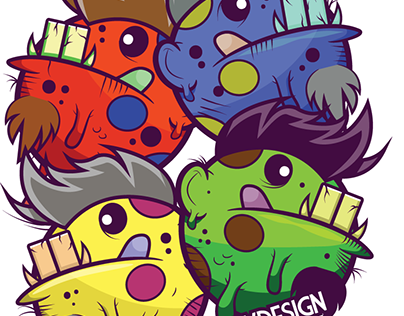 Vector monsters coloured. Check out new work