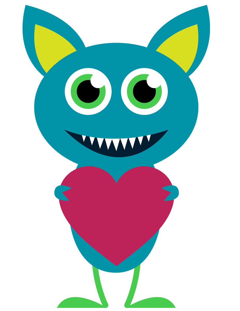 Vector monsters kid. Cute monster clipart at