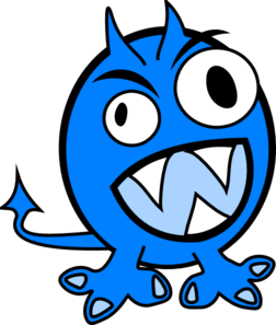 Vector monsters water. Monster clipart free on