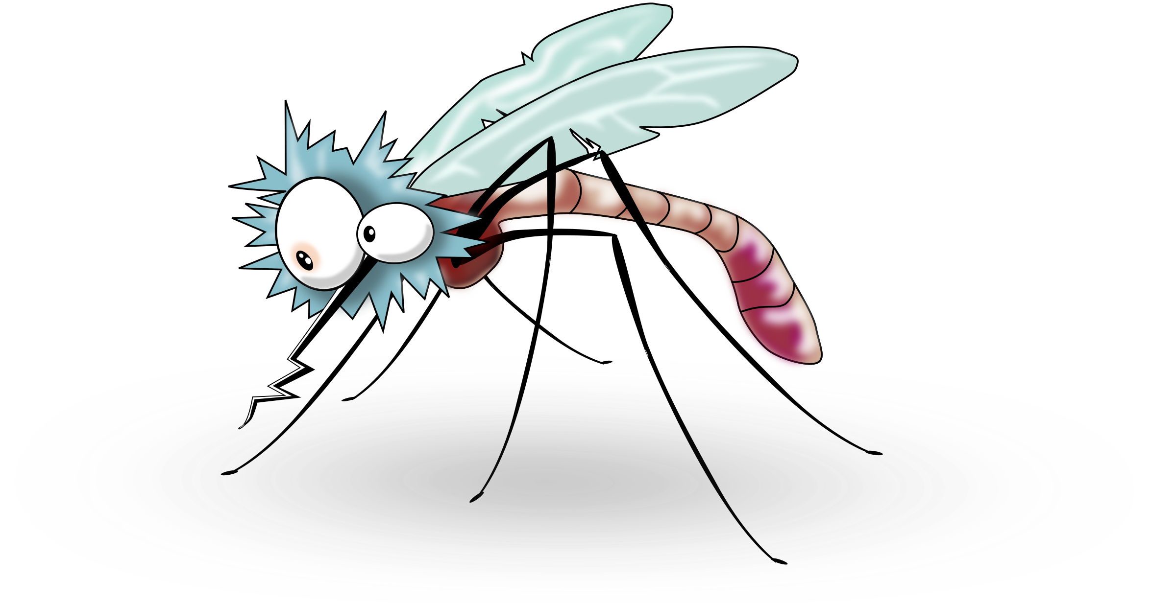 Vector mosquitoes clipart. Cute mosquito clip