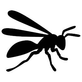 Insect silhouettes page hornet. Wasp vector silhouette image transparent library