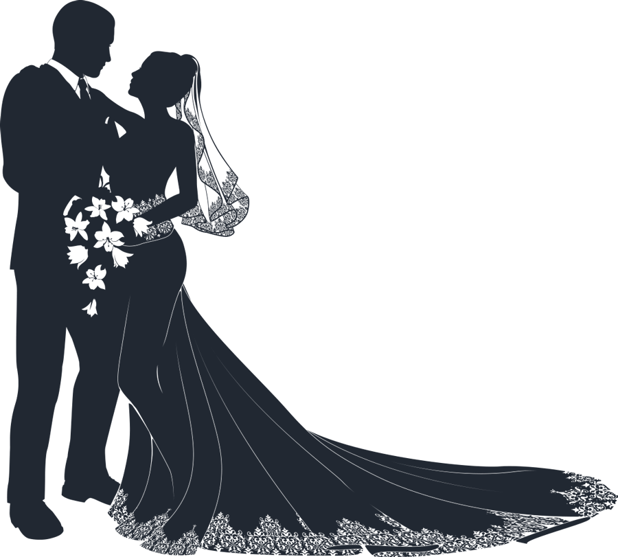 Vector motorcycles bride groom. Mother and child silhouette