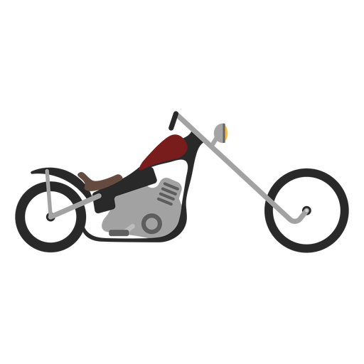 Transparent motorcycle chopper. Icon png svg vector
