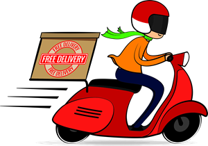 Vector motorcycles delivery. Travel and transport logo