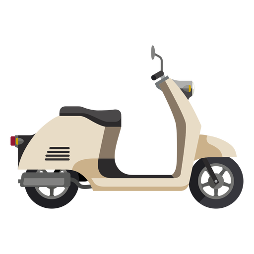 Vector motorcycles element. Retro scooter motorcycle icon