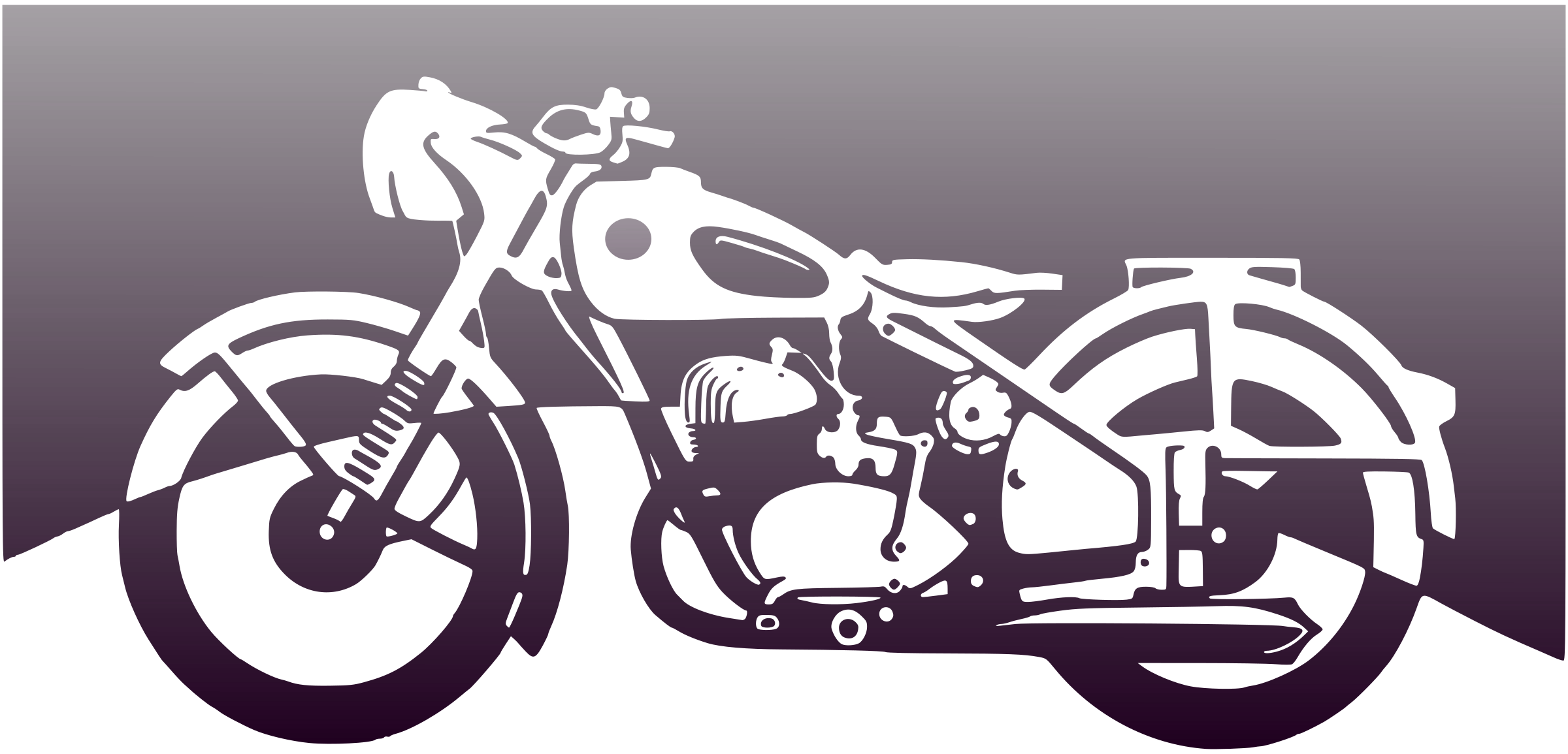 Vector motorcycles motorcycle outline. Police black and