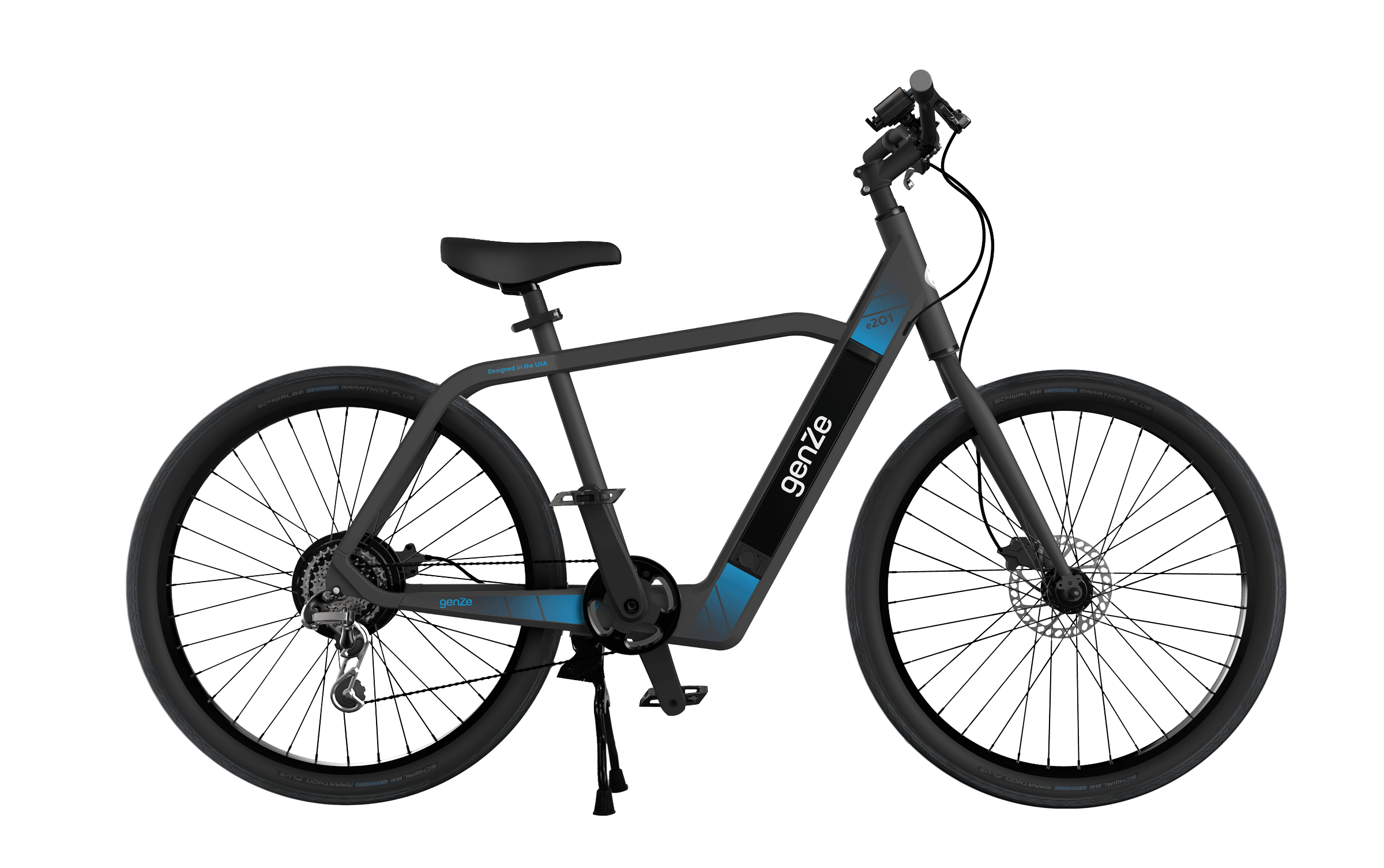 Cycle vector top view. Electric scooters bikes genze