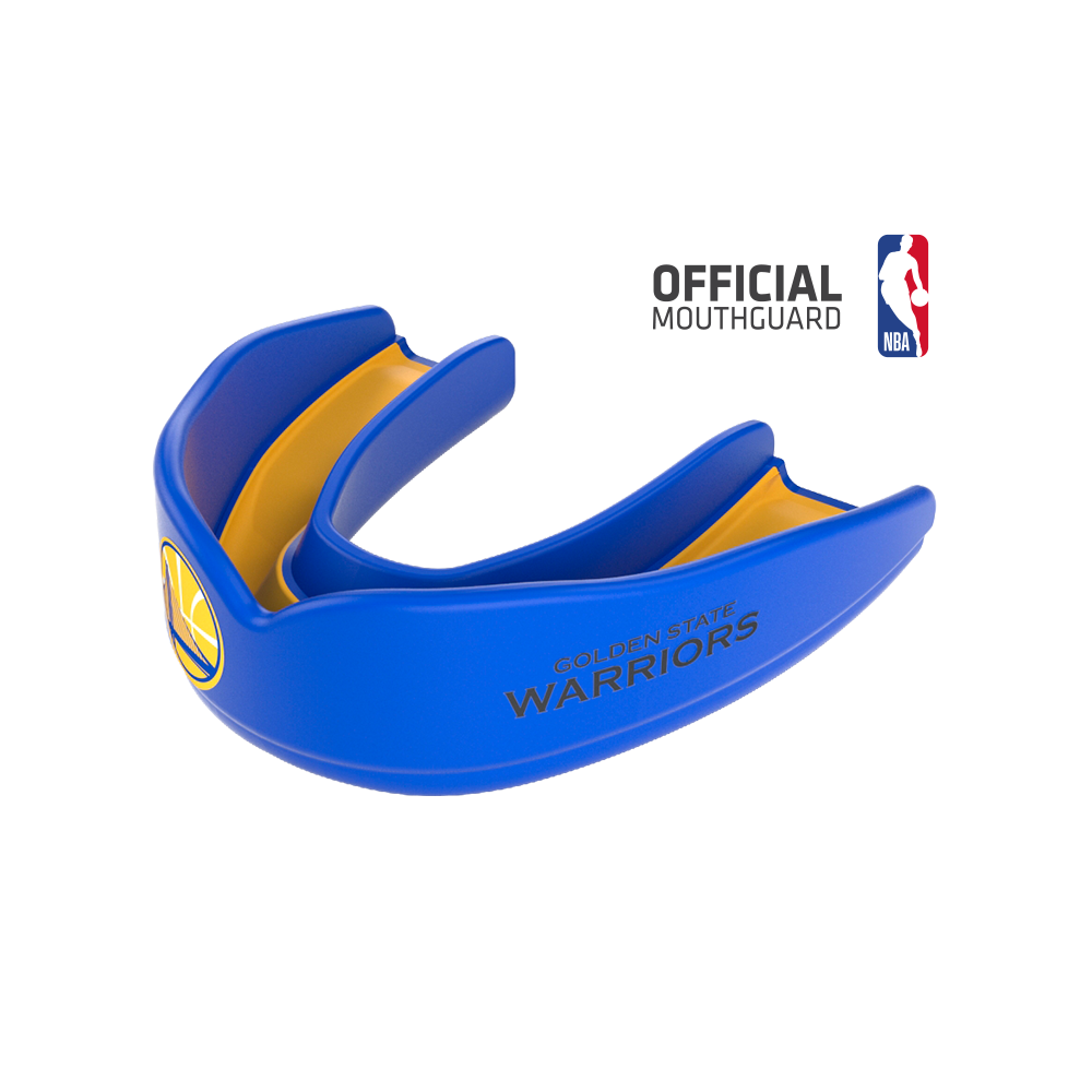 Vector mouthguard blue yellow. Sports mouthguards buy products