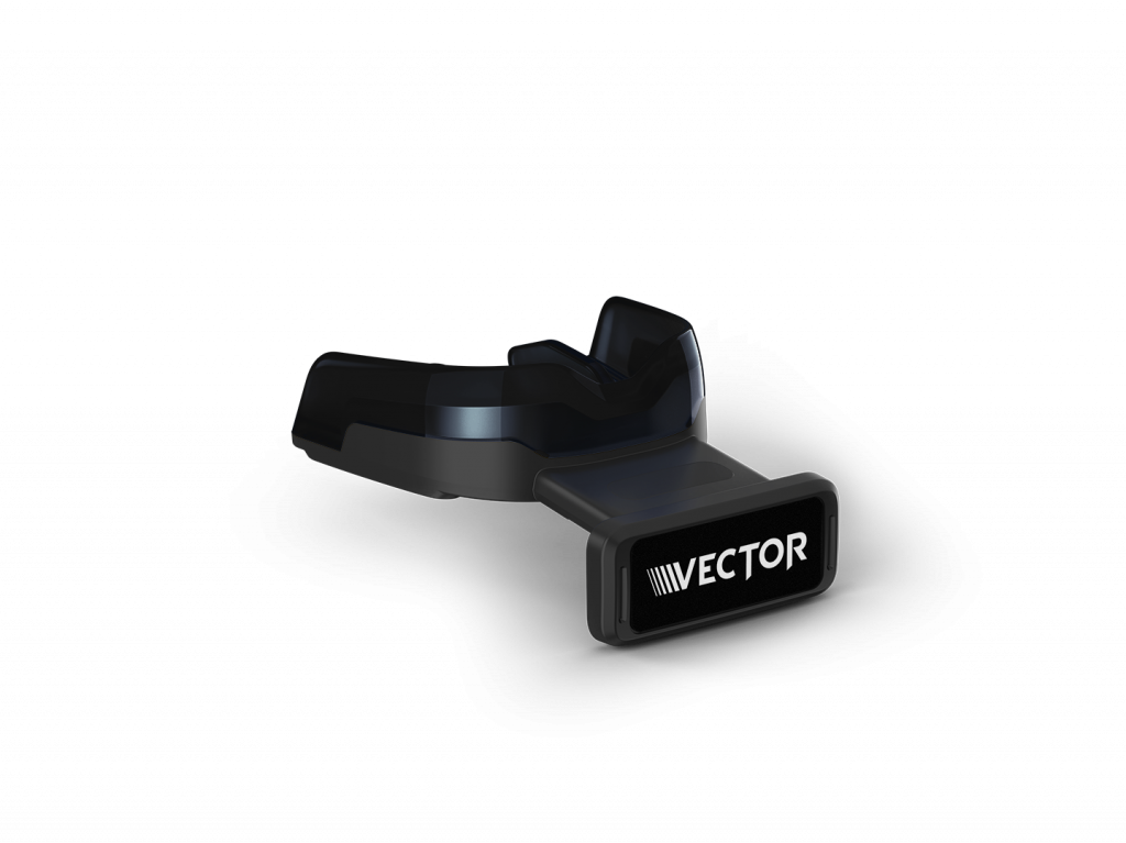 Vector mouthguard. Smart mouthguards help high