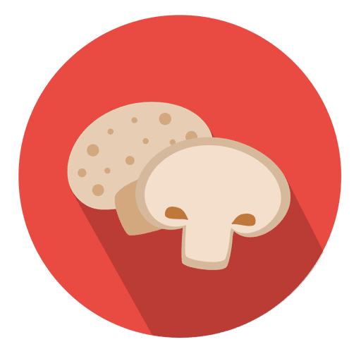 Vector mushroom. Circle icon transparent png