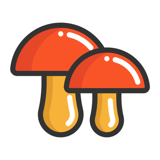Vector mushroom flat. Icons download free png