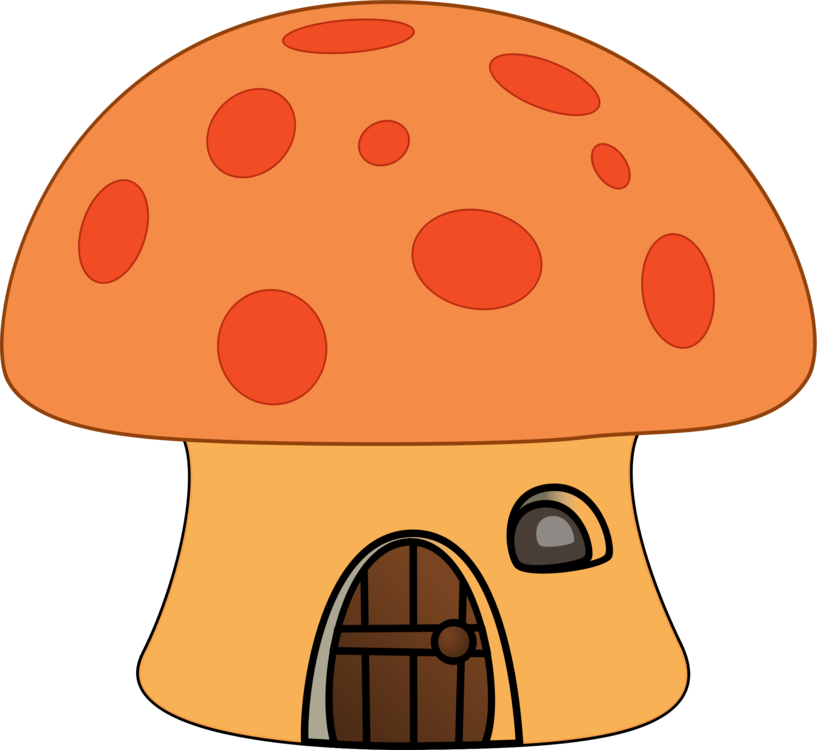 Vector mushroom house. Download drawing free commercial
