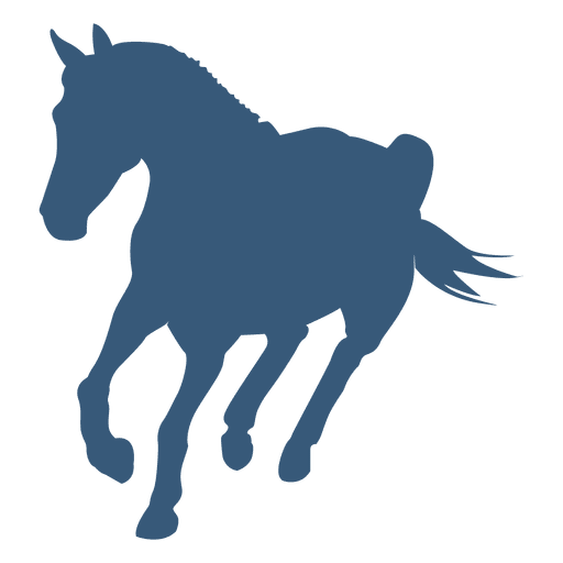 Vector mustang animal. Turning horse silhouette transparent
