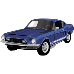 Vector mustang car. Download muscle gt icon