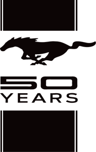 Vector mustang transparent. Ford years logo eps