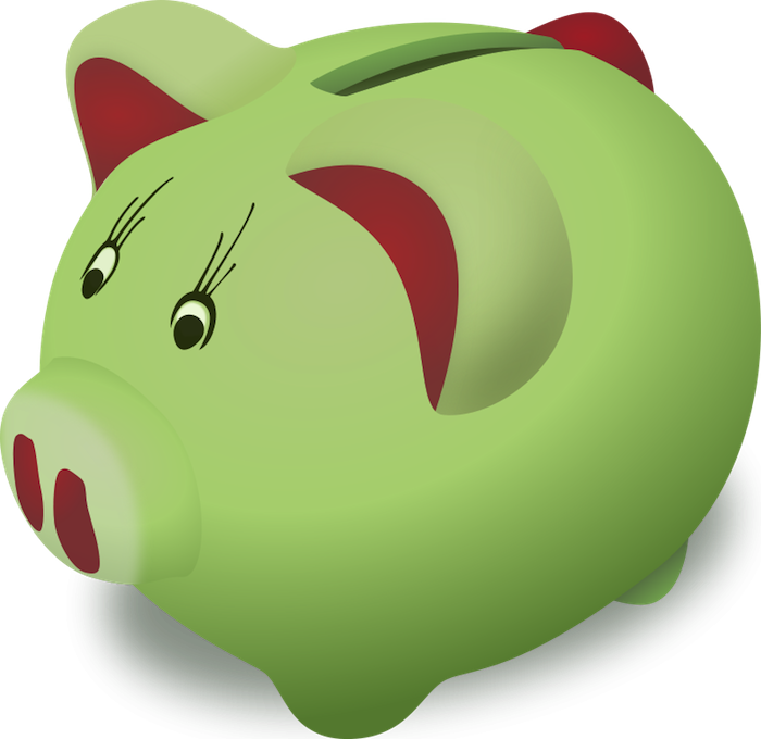 Vector nature cartoon. Free pig clipart animated