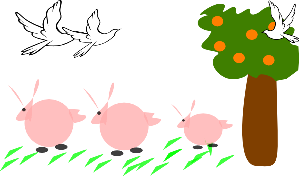 Clip art at clker. Nature clipart spring banner