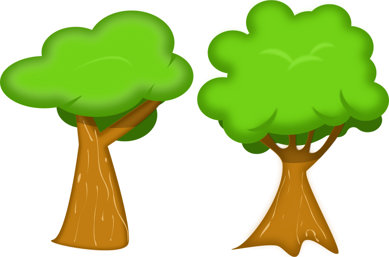 Vector nature tree. A soft free download