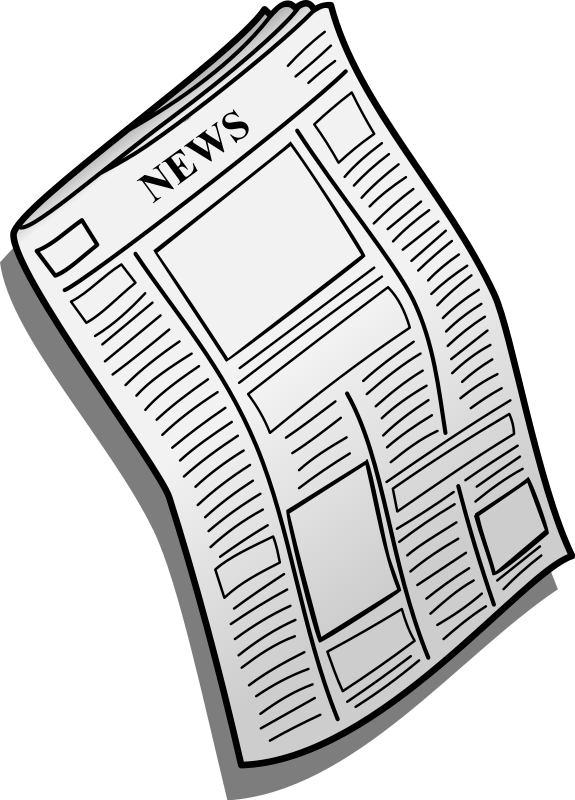 Vector newspaper clipart. Collection of transparent
