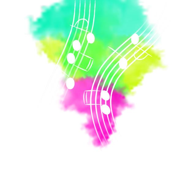 music note png exploding