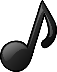 Musical clip art at. White music note png jpg royalty free library