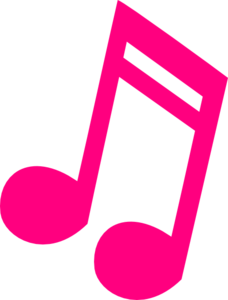 Music note clipart vector. Pink notes
