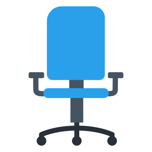 Vector offices clipart. Blue office chair transparent