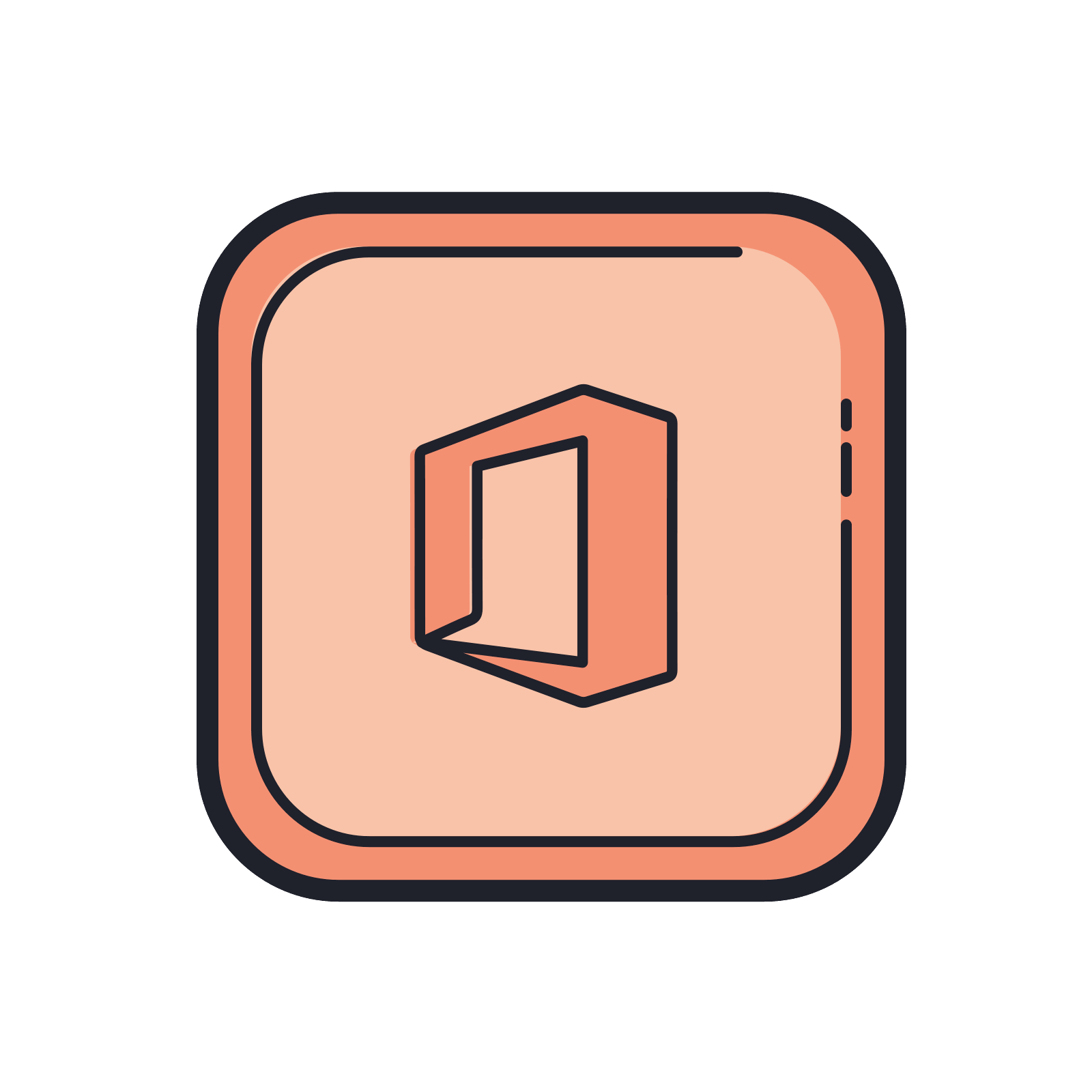 Vector offices illustration. Office icon free download