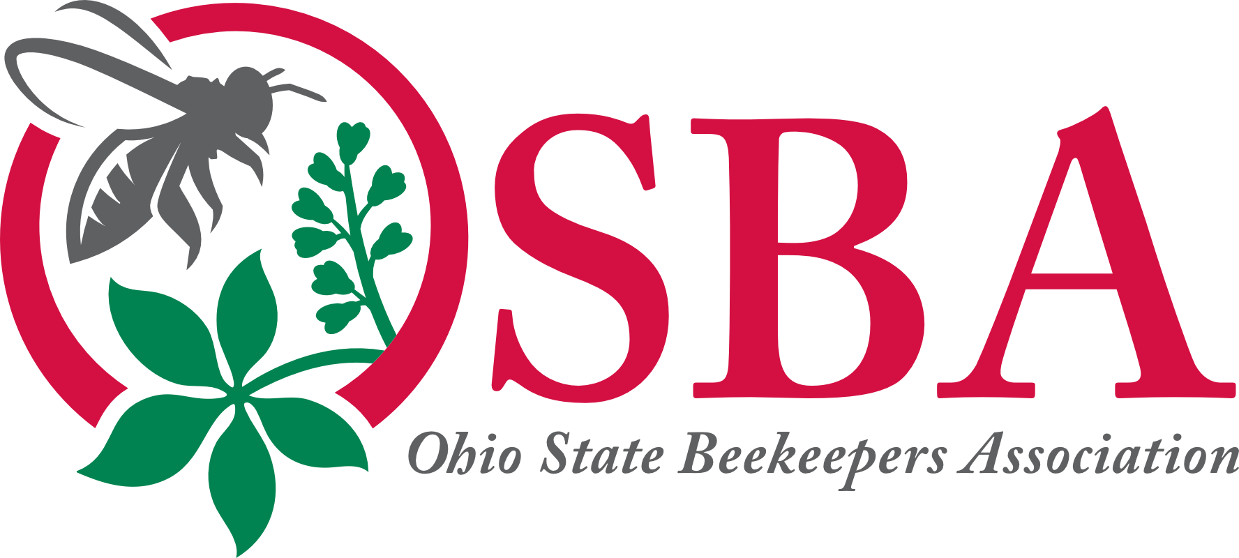 Vector ohio red. Osba logo state beekeepers