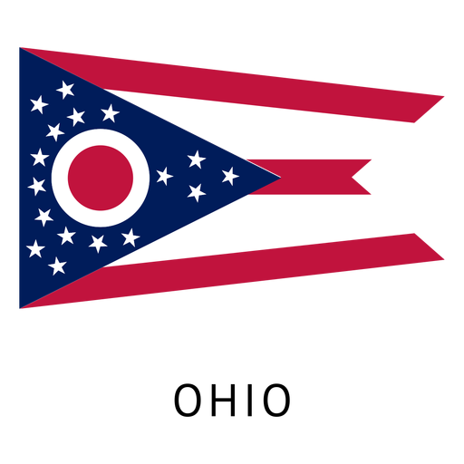Vector ohio transparent. State flag png svg