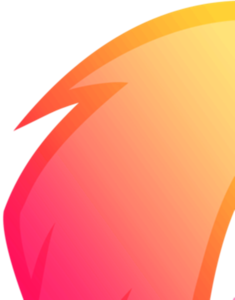 Vector orange cut. And pink free images
