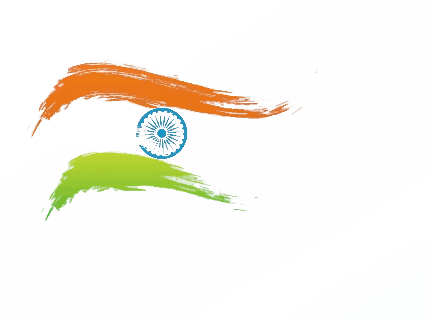 Vector orange movement. Flag of india indian