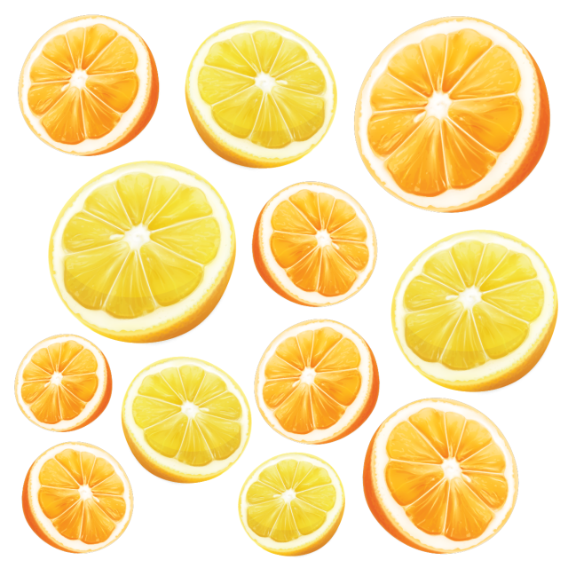 Vector orange realistic. Fresh lemon background png