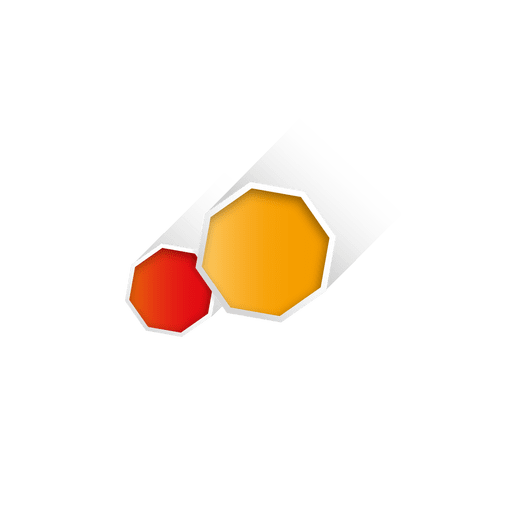 Vector orange shape. Octagon geometric transparent png