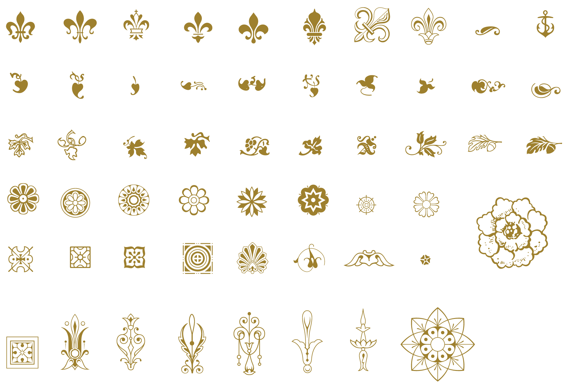 Ai vector ornamental. Essential vintage pack ornaments